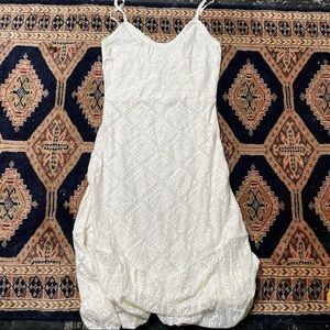 Sundance Boho Cream Lace knit Sleeveless Dress